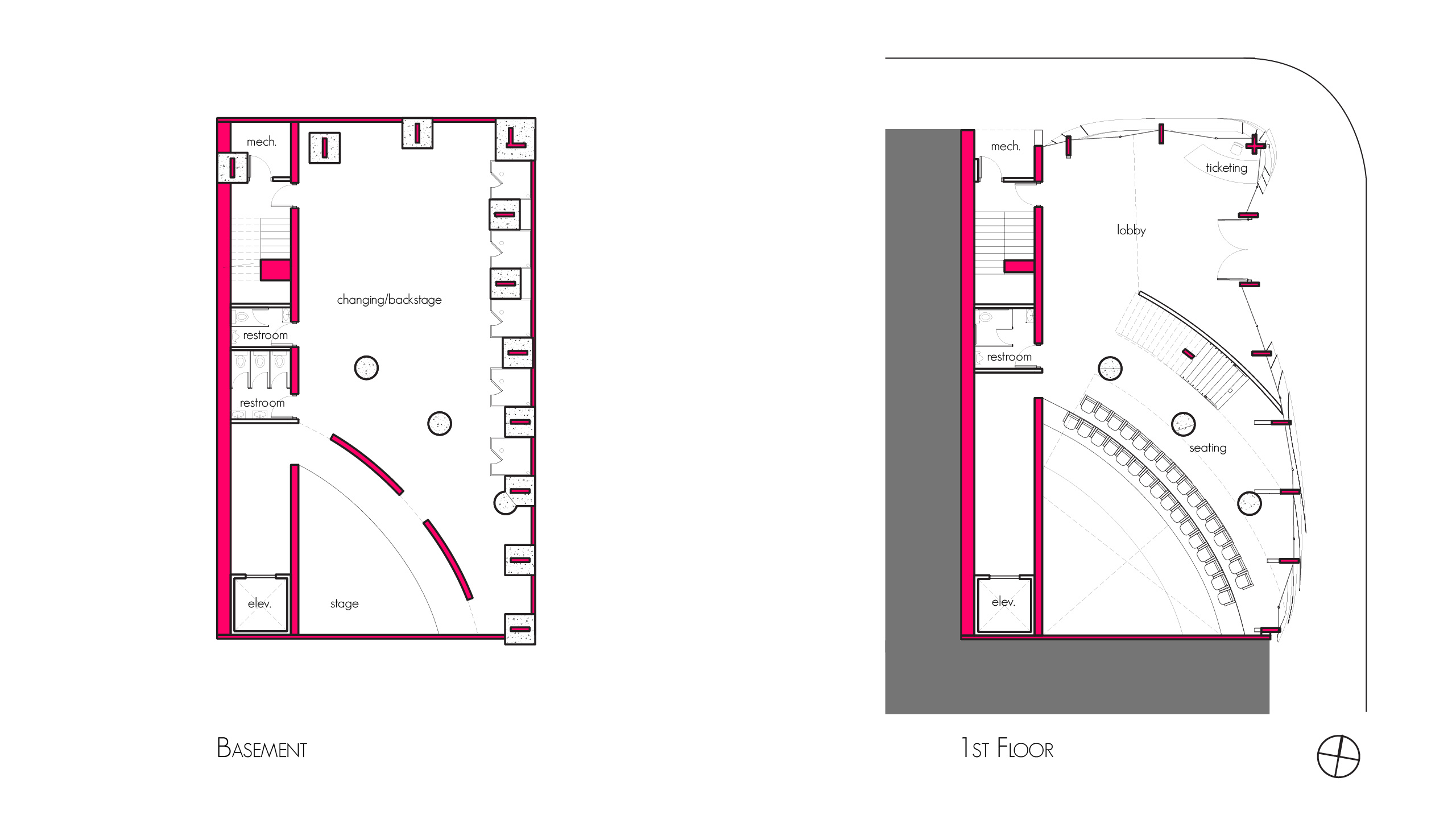 Plans - Basement and First Floor